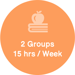 2 groups 15 hrs week