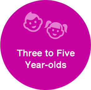 3 to 5 year old kids